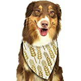 YAGEAD Pañuelo para Perros Cachorro y pañuelos para Mascotas, Patrón agrícola con Trigo Agricultura Cinturón de Cebada Botánica Paquete de Pan Bundle Bufanda para Mascotas
