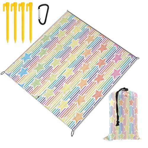 SCOCICI1588 Outdoor & Picknickdecke Star Mandala Motive Retro – wasserabweisend, Matte für Camping oder Reisen, kastanienbraun, 57