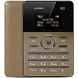 Ultrafino Moda Mini teléfono móvil Tarjeta de Personalidad Teléfono Tiempo de Espera extralargo Teléfono móvil de Bolsillo - Dorado