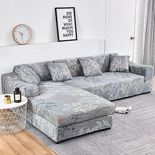WXQY Fundas de Tela Escocesa elástica Funda de sofá elástica Funda de sofá de protección para Mascotas Esquina en Forma de L Funda de sofá Todo Incluido A6 2 plazas