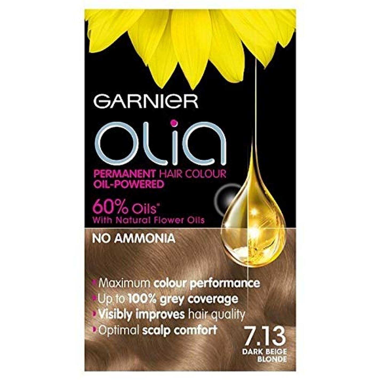 ヒープモバイル高層ビル[Garnier ] 7.13ダークベージュブロンドガルニエOliaパーマネントヘアダイ - Garnier Olia Permanent Hair Dye Dark Beige Blonde 7.13 [並行輸入品]