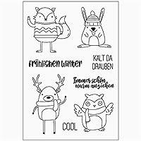 スクラップブッキングのためのドイツ語のクリアスタンプタンポン透明シール背景スタンプカード作成Diy vd