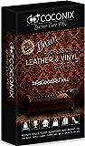 Coconix Kits de reparación de Cuero marrón para sofás - Kit de reparación de tapicería y Vinilo para Asientos de automóviles, sofás y Muebles - Fórmula de Relleno de rayones líquidos