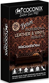 Coconix Brown Leather and Vinyl Repair Kit - Restorer of Your Couch Sofa Car Seat and Your Jacket - Super Easy Instructions - Restore Any Material Genuine Italian Bonded Bycast PU