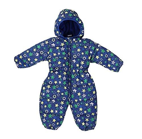 Jacky Baby - Combinaison de neige - Bébé (garçon) 0 à 24 mois bleu dunkelblau allover 62