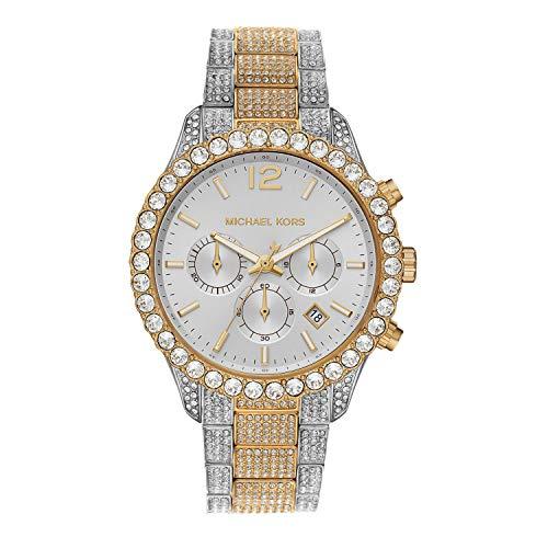 Michael Kors Women's Quartz Watch with Stainless Steel Strap, Multicolor, 20 (Model: MK6792)