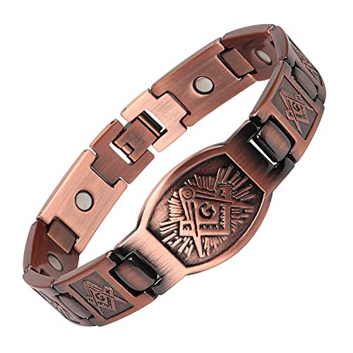 THE NORTH RING Men's Pure Copper Magnetic Therapy Church Bracelet
