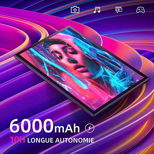 VANKYO MatrixPad S10 Tablette Tactile 10 Pouces HD, 2 Go RAM, 32 Go Stockage, 8 MP Caméra Arrière, 6000mAh, USB Type-C, GPS, FM, Android 9.0, WiFi, Noir