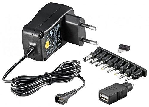 Fuente de alimentación universal de 3-12 V, incluye USB + 8 adaptadores de CC máx.: 7,2 W, 0,6 A (wt53995)