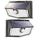 LITOM 300 LED Solar Motion Sensor Lights Outdoor, IP67 Waterproof Solar Powered Security Lights Wireless Solar Wall...