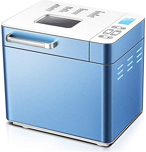 Completamente Automatico Máquina para Hacer Pan, Tostadora, Control Remoto WiFi Doméstica 2 Libras De Gran Capacidad Imitación Manual De Amasado Desayuno Máquina Azul