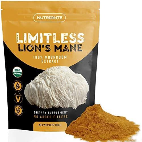 Organic Lions Mane Extract Powder Nootropic Mushroom Supplement Improves Focus Memory Immune product image