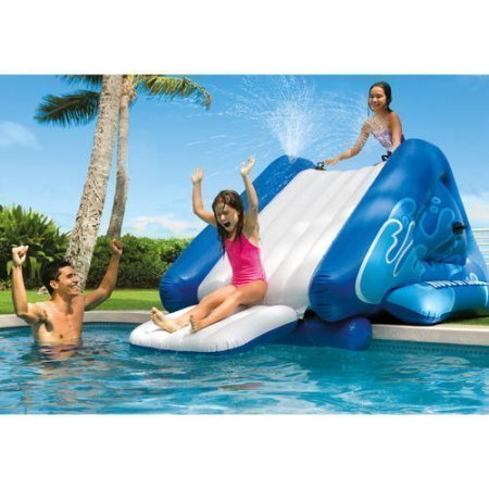 "NEW Inflatable Water Slide Play Center with Sprayer, 131"" x 81"" x 46"""