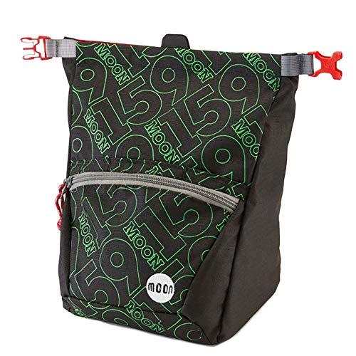 MOON Bouldering Chalk Bag Schwarz, Kletterzubehör, Größe One Size - Farbe 159 Jet Black