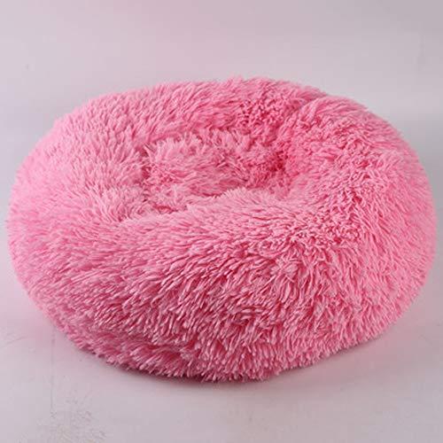 Katzenbett- Runde Hundebett Plüsch Hundehütte abnehmbare Katze Haus weichen Baumwollmatte Sofa geeignet für große, mittlere und kleine Katzen und Hunde (Size : 110cm)