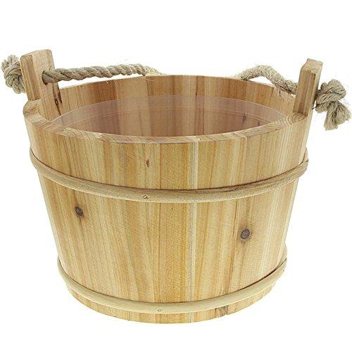 Saunabottich für die Schwalldusche, Sauna Robuster Bottich Kosmetex Aufgusskübel mit Kunststoffeinsatz.