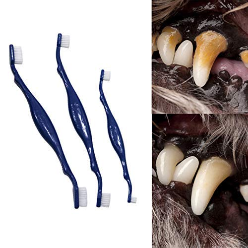 3 Sizes Soft Bad Breath Teeth Tartar Calculus Pet Supplies Mouth Cleaning Tools Cat Dental Care Dog Toothbrush Teeth Brushing Cleaner(L)