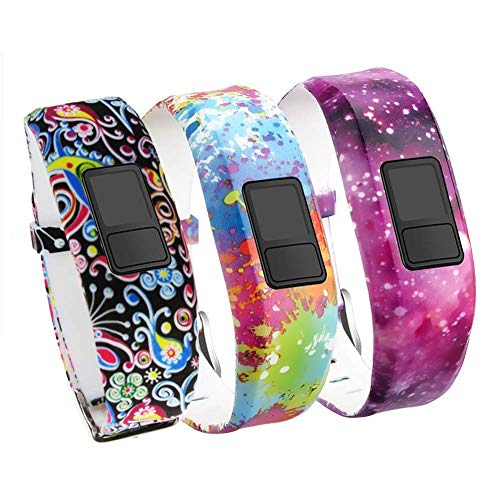 Band Compatible for Garmin Vivofit 3 Vivofit JR Vivofit JR. 2-HMJ Band Colorful Adjustable Replacement Wristband Strap Bands Compatible Vivofit 3/JR/JR. 2 Bracelet(for Kids, Wrist Over 135MM at Least)