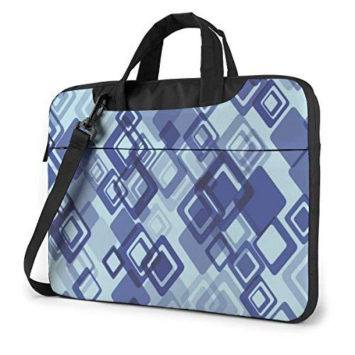 XCNGG Shockproof Laptop Bag Abstract Geometary Shoulder Messenger Bag Slim Briefcase for Men Women Tablet Carry Handbag for Business Trip Office 13 14 15.6 Inch