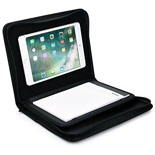 Map-beschermhoes voor 7- tot 8-inch tablets, cooper BIZMATE map notitieblok A5 papier pad map reis hoes pennenhouder