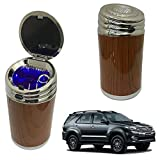 Oshotto High Temperature Portable Wooden Design Car Ashtray for Toyota Fortuner Old