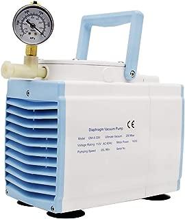 KUNHEWUHUA GM-0.33A Oilless Diaphragm Vacuum Pump Oil Free Vacuum Pump Medical Mute Pump 20 L/min 115v