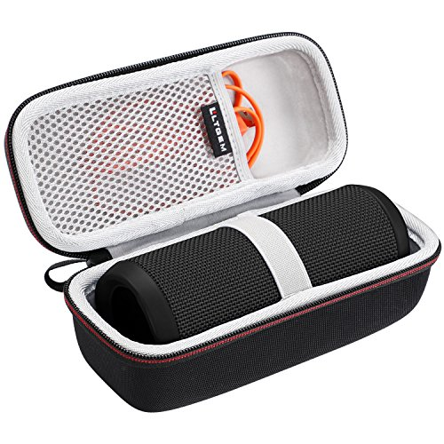 LTGEM Hard Carrying Case for JBL Flip 4 3 Portable Bluetooth Speaker, with Mesh Pocket Fits USB Cable and Accessories, for Travel, Storage and More