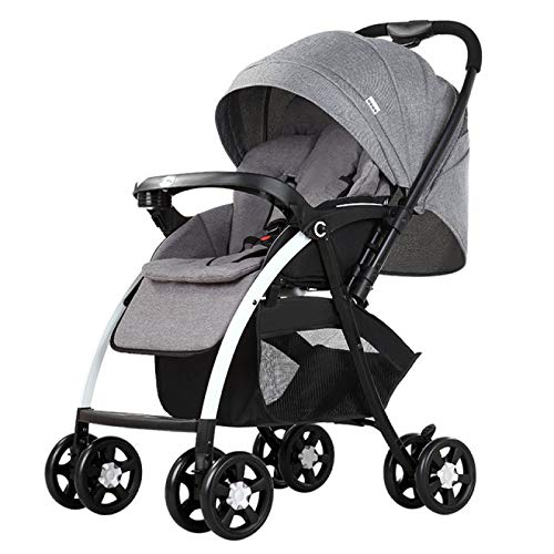 Find Discount YYZZ Baby Stroller, 3 in 1 high Landscape Baby Tricycle Baby Stroller Foldable Portabl...