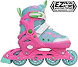 Lenexa Sherbet Adjustable Inline Skates Kids Rollerblades Girls - Roller Blades for Youth