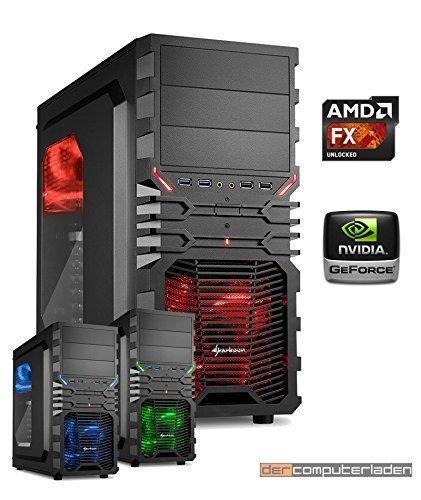 dercomputerladen PC Gaming Sistema AMD, FX-8350 8x4,0 GHz - FX 8350 con nVidia GTX 970 4GB, mit 8GB RAM und 1000GB HDD