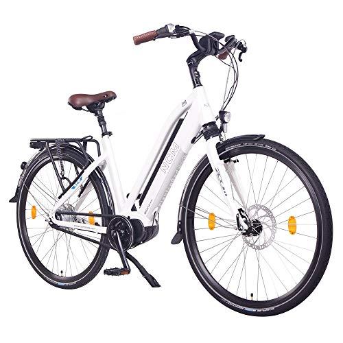 NCM Milano MAX N8R Bicicleta eléctrica, Bicicleta de Trekking, 250W Motor Central,...