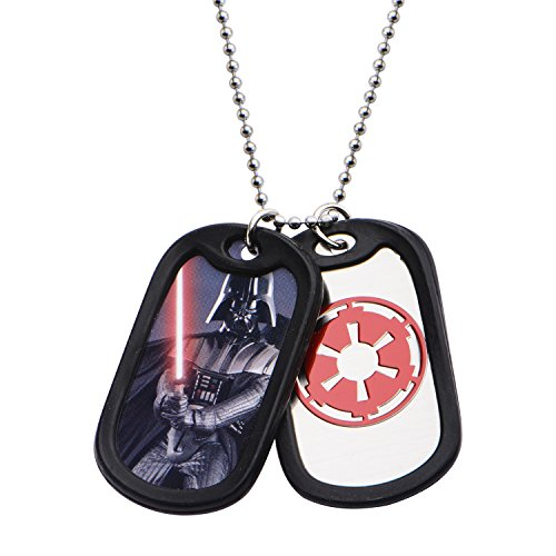 Star Wars Jewelry Herren-Halskette mit Anhänger Darth Vader Double Dog Tag 55,9 cm