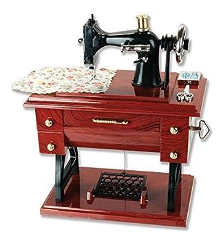Patty Both Musical Sewing Machine Music Box Vintage Look  Brown 01