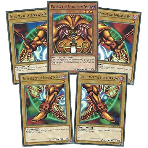 YuGiOh Exodia Il Proibito Uno - Completo Cinque Carte LDK2 edizione illimitata