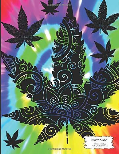 """Spirit Erbz: Hippie Marijuana Tie Dye Notebook 150 Page College Ruled 8.5""""x11"""""""