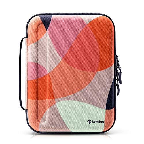 tomtoc Portfolio Case for 11' iPad Pro/10.9' New iPad Air 4 2020/10.2' iPad 8 and other 9.7'-10.5' iPad, Organizer Bag Holders for iPad Pencil, Cable, A5 Note, Business Carrying Storage Padfolio