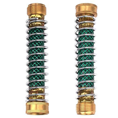 GaiGaiMall 2Pcs Garden Hose Coil Spring Protector Faucet Hoses Coupling Adapter