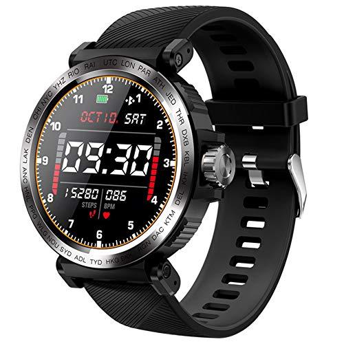 ZWW Monitor De Ritmo Cardíaco Smartwatch para El Teléfono Android iOS, S18 Táctil Pantalla Completa Reloj Inteligente, IP68 A Prueba De Agua Reloj De Los Deportes De Los Hombres,A