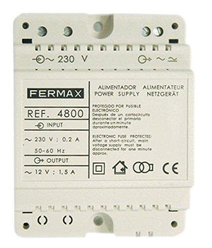 Fermax 4800 - Alimentador DIN4 230Vac/12Vac, 1.5A, 50-60 MHz