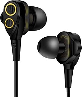 TYESQII DT200 イヤホン 高音質 重低音 カナル型 ハイレゾ イヤフォン 高遮音性 密閉型 イヤホン hi-res 有線 対応 hifi マイク リモコン付き 通話可能 iPhone、Android各種対応