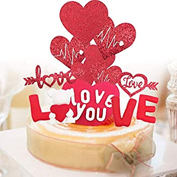 Honger Valentine's Day Cake Toppers Decorations