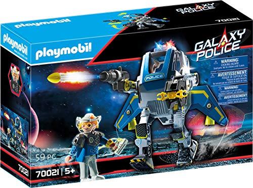 PLAYMOBIL Galaxy Police 70018 Policía Galáctica Robot, con Efectos de Luz, A Partir de 5 Años