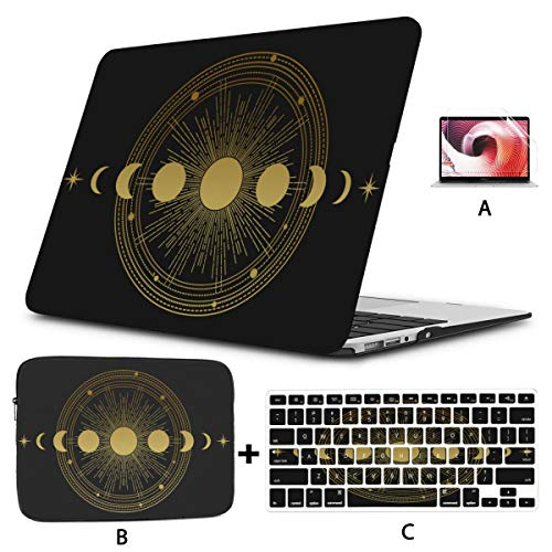 Macbook 13 Cover Composition Sun Moon Orbits Stars 15inch Macbook Pro Case Hard Shell Mac Air 11'/13' Pro 13'/15'/16' With Notebook Sleeve Bag For Macbook 2008-2020 Version