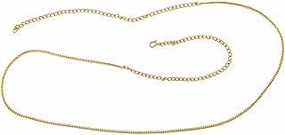 ACCESSHER Women's Delicate Chain Waist Belt(Gold)