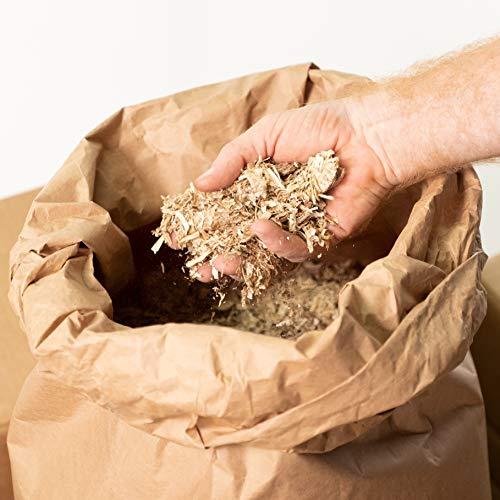 Jumbogras® Einstreu-Snips: gepresstes Kleintier Miscanthus-Stroh/Elefantengras-Streu für Käfig (15 kg Sack)