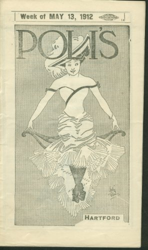 POLI'S Hartford Program Nobody's Widow 5/13 1912 Indian Excelsior Motorcycle ads