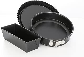 antiadherente Springform 28 cm metal Negro Esmaltado en diferentes tama/ños negro fabricado en Alemania Culinario Spring forma con base extra/íble