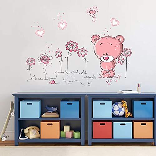 WandSticker4U- Wandtattoo BABY BÄR in rosa - 5