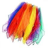 LALANG 12PCS Tanz und Jongliertücher Gymnastiktücher Tanztücher Chiffon 6 Farben