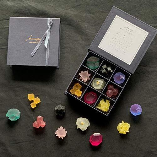 こうぶつヲカシ 9粒入り 採取箱 (箱番3) 鉱物×和菓子 こうぶつ おかし 鉱物 和菓子 ハラペコラボ